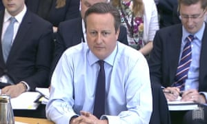 David Cameron is giving evidence to the Commons liaison committee about the EU referendum
