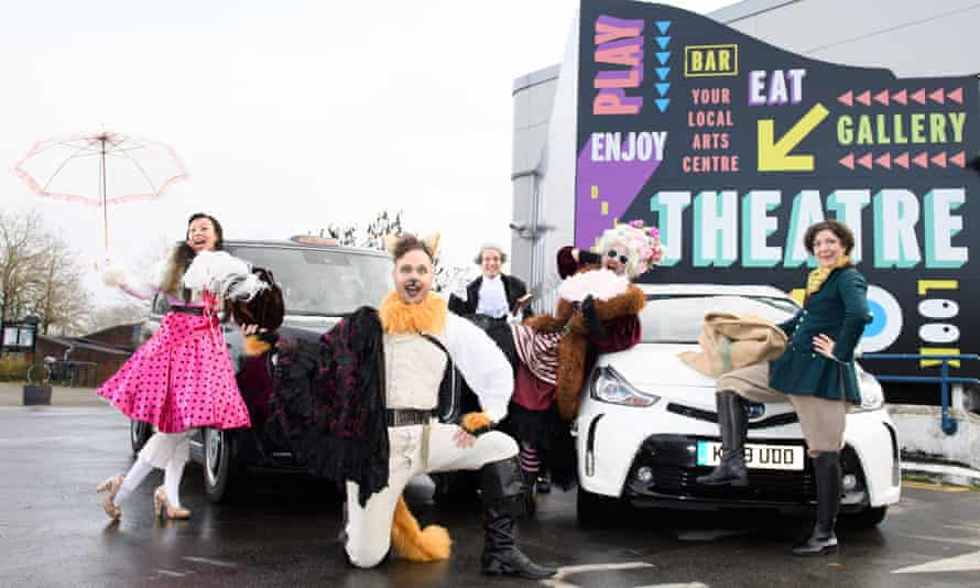 The cast of Puss in Boot (geddit?), the pantomime created by Gideon Reeling and the taxi app Free Now.