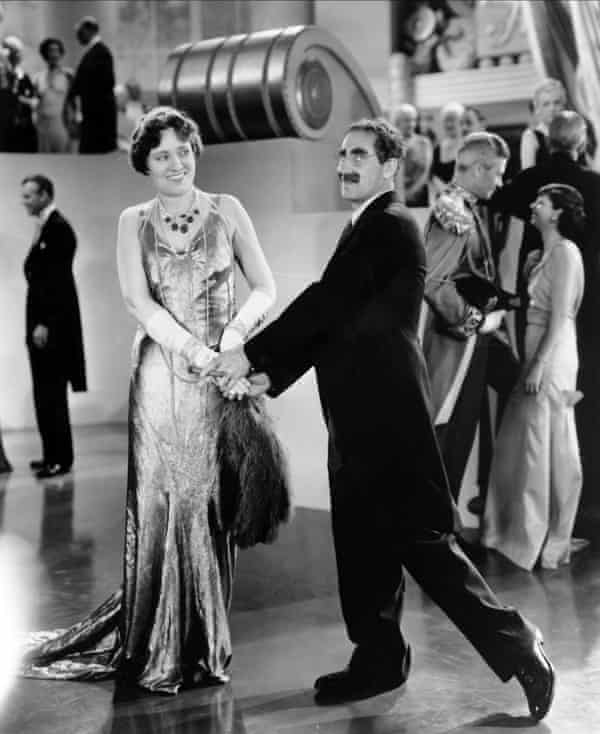Margaret Dumont and Groucho Marx in Duck Soup: Marx Brothers (1933)