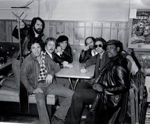 """The 1978 Bruce Springsteen with the E Street Band during the """"Darkness"""" sessions at Shellow's Luncheonette, in East Camden, New Jersey"""