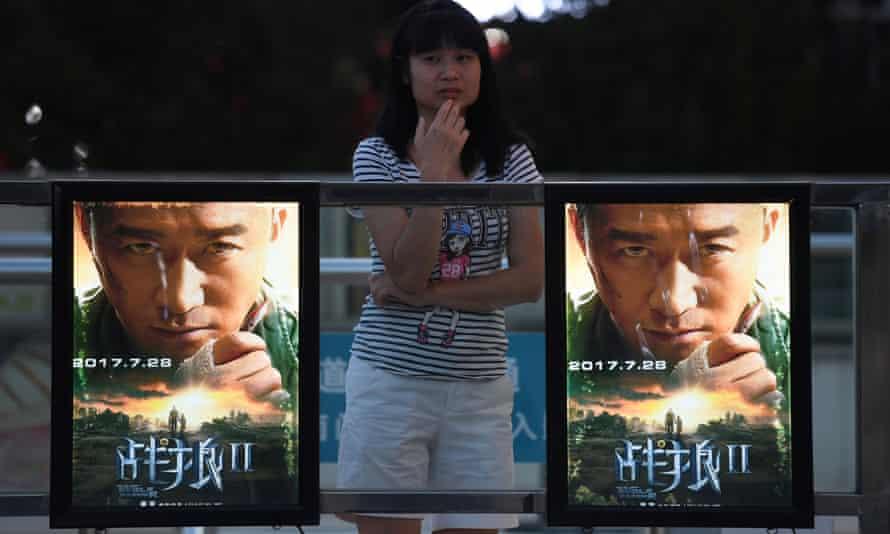 Posters for Wolf Warriors 2 in Beijing.