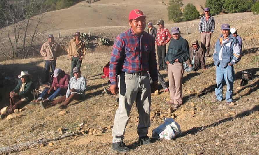 Isidro Baldenegro López (in foreground), 2005 Goldman Environmental prize winner, at home in the village of Coloradas de la Virgen, Chihuahua. He was shot dead in 2017.