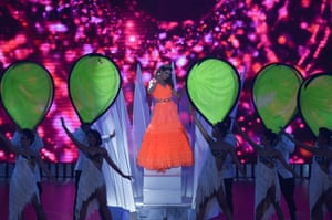 Mumbai, IndiaBollywood actress Sara Ali Khan performs on stage during the 20th International Indian Film Academy Awards at NSCI Dome.