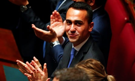 Five Star Movement leader Luigi Di Maio has ruled out joining a coalition with Forza Italia.