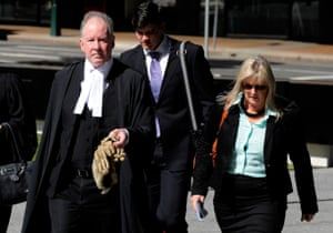 Michael Burn QC and Debbie Kilroy outside the supreme court in Brisbane in 2013