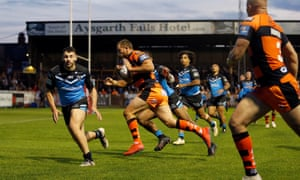 Cheyse Blair scores Castleford's first try against Hull FC on a night when Jake Trueman excelled.