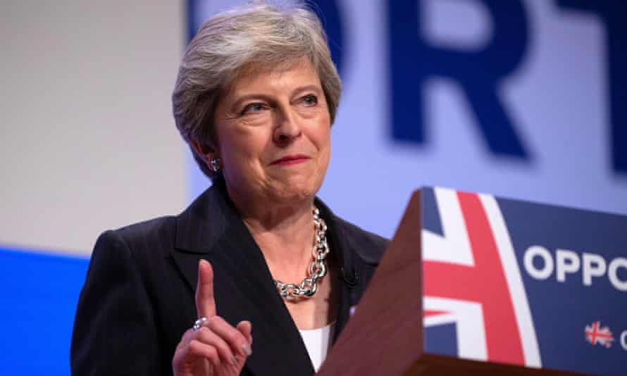 May appealed directly to Labour backbenchers in her conference speech in Birmingham.