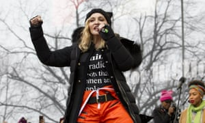 Madonna performing at the Women's March rally in Washington DC, January 2017