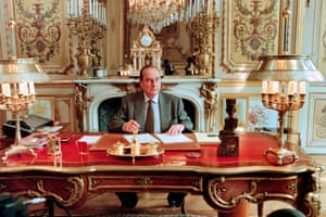 Chirac in his office at the Elysée Palace in April 1996