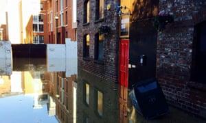 Flooding at Melrose Yard Studios, York