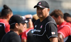 Japan's head coach Jamie Joseph is a former All Black who also played for Japan at the 1999 World Cup.