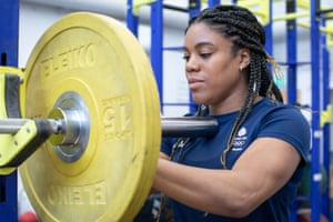 Nekoda Smythe Davis at the Judo Centre of Excellence training centre in Walsall duringApril 2021.