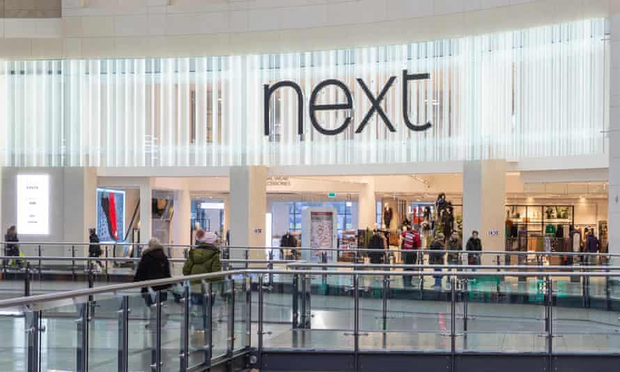 A Next clothing store in the Manchester Arndale shopping centre