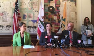 Mayor Libby Schaaf (center) said Whent's resignation was a 'personal decision'.