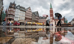 Reconstructed historic houses in Frankfurt's Römerberg square