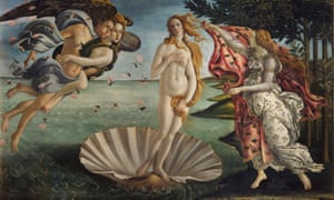 Beauty defined: Botticelli (1445-1510) painted the Birth of Venus in the 1480s.