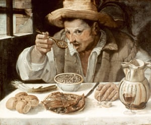 Il Mangiafagioli ( The Bean Eater), by Annibale Carracci, oil on canvas, c1585.