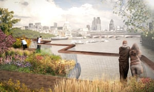 Impression of the proposed garden bridge, London