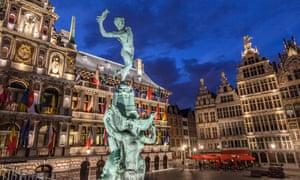 Grote Markt Brabo fountain Antwerp