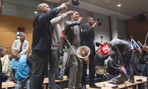 Air France union activists stormed the headquarters during a meeting about job cuts.