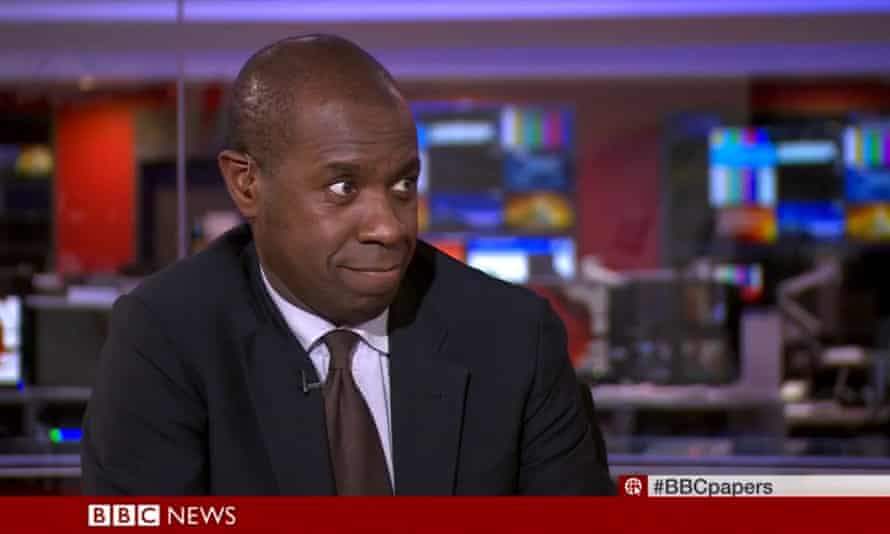 Clive Myrie, after calling a heavyweight boxer a dickhead.