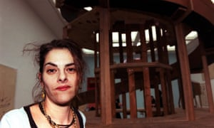 Tracey Emin at the White Cube gallery in 2001, opening her exhibition You Forgot to Kiss My Soul.