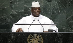 President Yahya Jammeh addressing the United Nations in 2014.