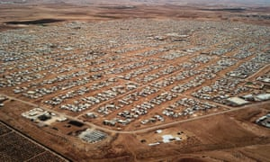 Zaatari refugee camp, north Jordan, close to the border with Syria.