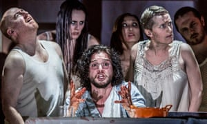 Febrile production: Kit Harington and co in Doctor Faustus at the Duke of York's.