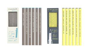 Storyteller and de-motivational pencils [write names based on pic selections], from £4.95 for 5, shop.balticmill.com