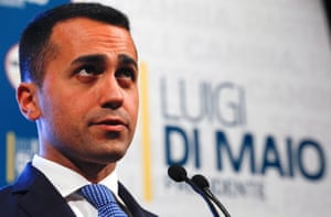 5-Star Movement leader Luigi Di Maio .