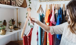 Young Woman Shopping In Cute Vintage Retail Shop