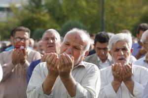 Muslims perform Eid al-Fitr prayers in Tehran, Iran
