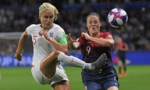 England captain Steph Houghton made sure that Norway's Isabell Herlovsen had a quiet night up front.