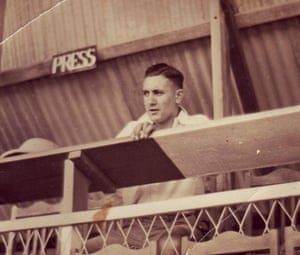 Cecil Ramalli watches the match during a stopover on the return trip after the Wallabies' 1939 tour had been cancelled.