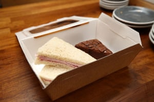 A lunch box at the Pudding Pantry