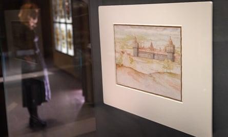Joris Hoefnagel's watercolour of Nonsuch palace