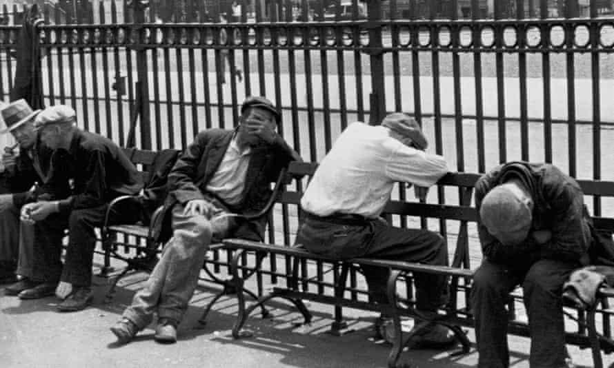 Unemployed men Great Depression