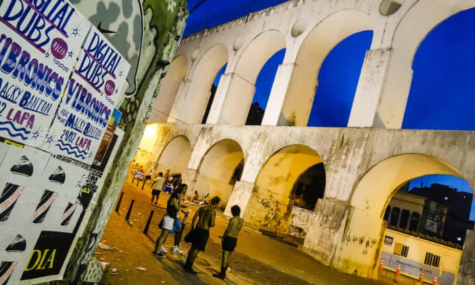 The Arcos da Lapa makes for a good meeting place, where impromptu parties often break out.