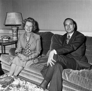 Chirac and Margaret Thatcher in Paris in May 1975