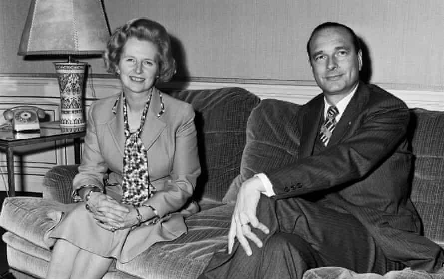 Jacques Chirac and Margaret Thatcher meet in Paris, in 1975.