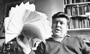 A fan of something new … BS Johnson in 1968 with his manuscript of The Unfortunates.