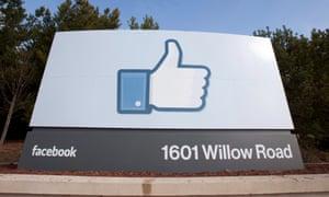 facebook like symbol on a sign