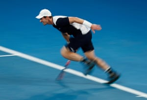 But Murray still fights valiantly and comes from 30-0 to steal a remarkable break in the fourth game of the third set