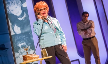 Sandra Dickinson as Lucy and Matthew Scott as Lee in I Loved Lucy at the Arts theatre, London.