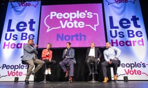 John Barnes, Allison Curbishley, Alastair Campbell, Peter Reid and Garreth Carvell (left to right) were also speaking at the rally in Leeds.