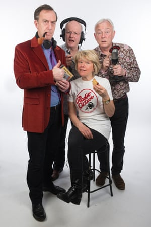 The cast of Radio Active, clockwise from left: Angus Deayton, Michael Fenton Stevens, Philip Pope and Helen Atkinson-Wood.