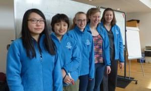 From left: Naomi Wei, Yukha Machino, Melissa Quail, Emily Beatty and Alevtina Studenikina
