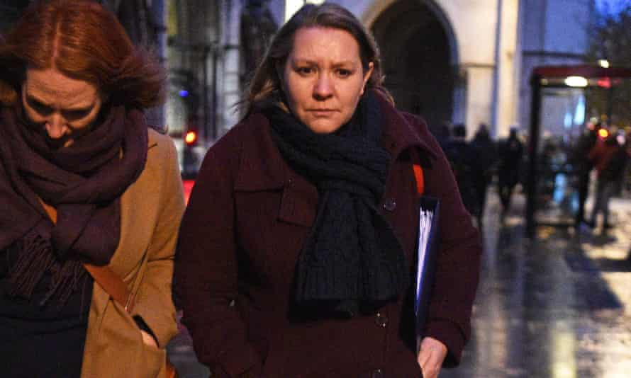 Anna Turley leaving the Royal Courts of Justice in London in 2019