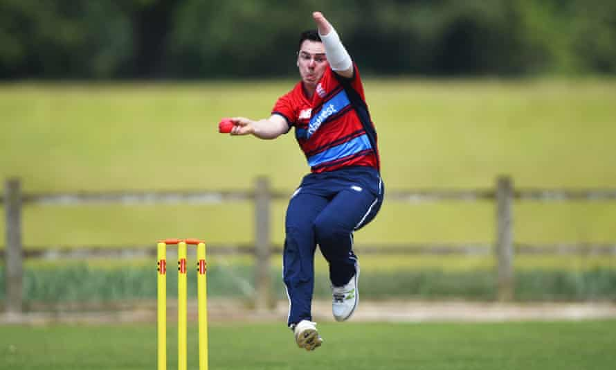 Toby Howe of England Lions runs into bowl during a England Physical Disability T20 match between England Seniors and England Lions.